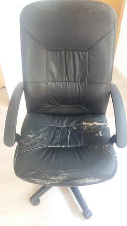 Scaun birou ergonomic rotativ, imitatie piele, negru