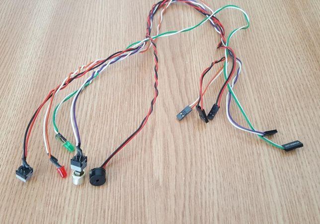 Cablu PC cu buton pornire, buton reset, difuzor, 2 LED-uri şi mufe
