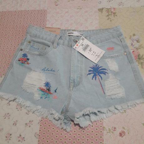 Дънкови панталонки CROPP, размер 36S