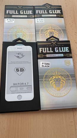 5D full glue протектори за iphone 12 pro max 11, 11pro max, X, 8 plus.