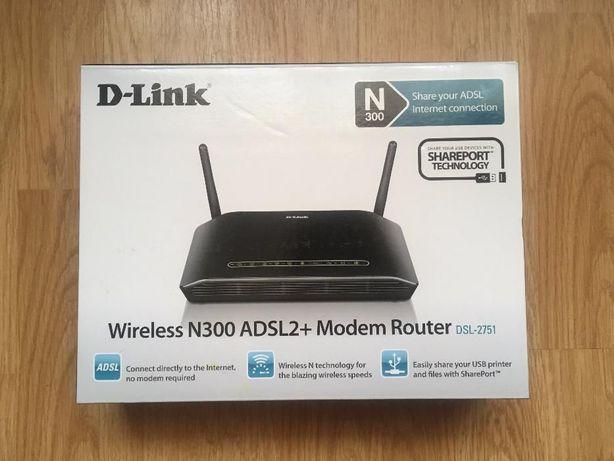 Router wireless D-Link N300 ADSL2 DSL-2751