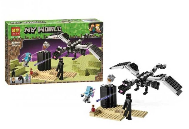 Лего Майнкрафт Последняя битва, Bela 11169 аналог LEGO Minecraft 21151