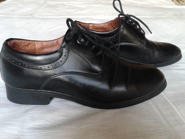 туфли детские черные классические размер-33