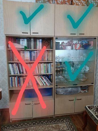 Книжный и посудный шкафы