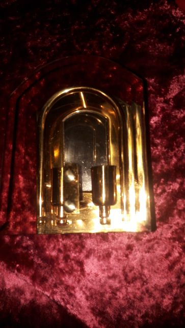 Lampa vintage de perete aurită