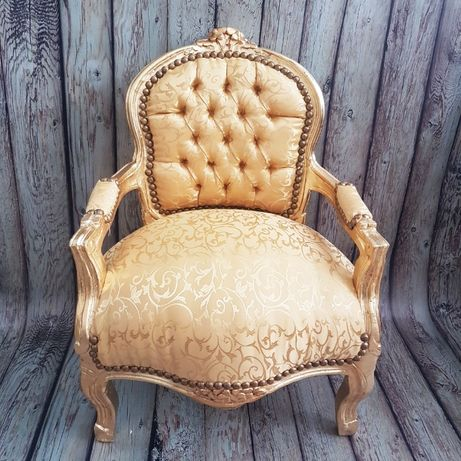 Детско бароково кресло - златно