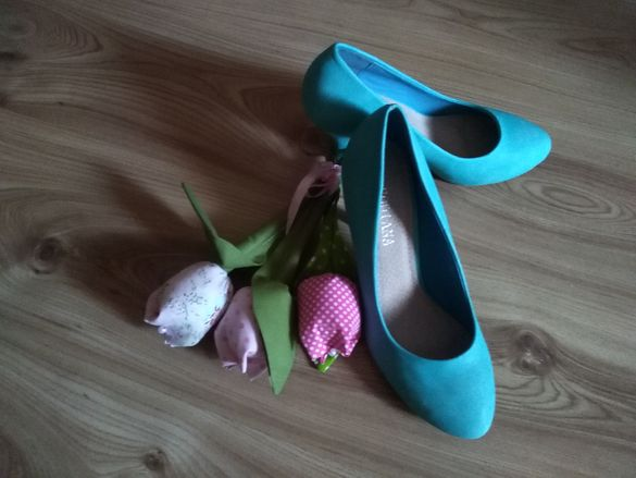 дамски обувки цвят тюркоаз