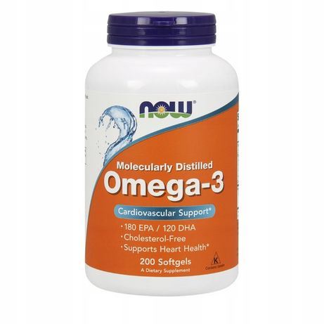 Рыбий жир, Омега 3, Now Foods, Omega-3, 200шт, омега3, витамин