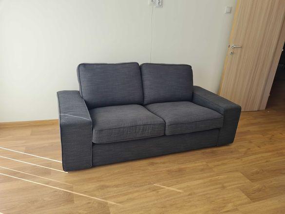 2-местен диван сив