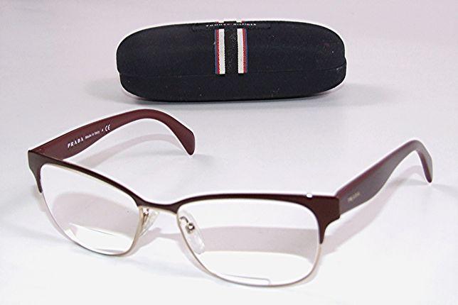 Rame ochelari de dama PRADA, culoare grena, lux, Made in Italy, NOI