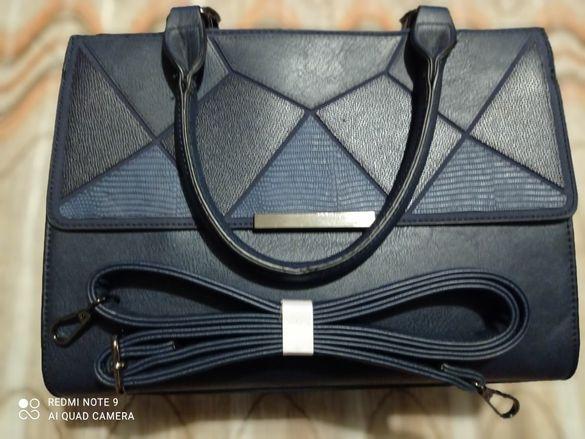 Дамска чанта в кралско синьо
