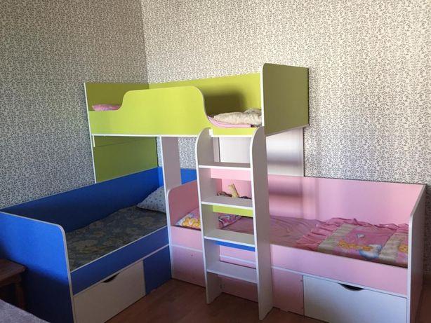 Детская кровать для 3-их детей