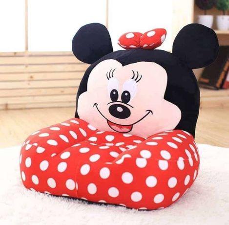 Fotoliu plus 3D Minnie,Micky Mouse,6luni+