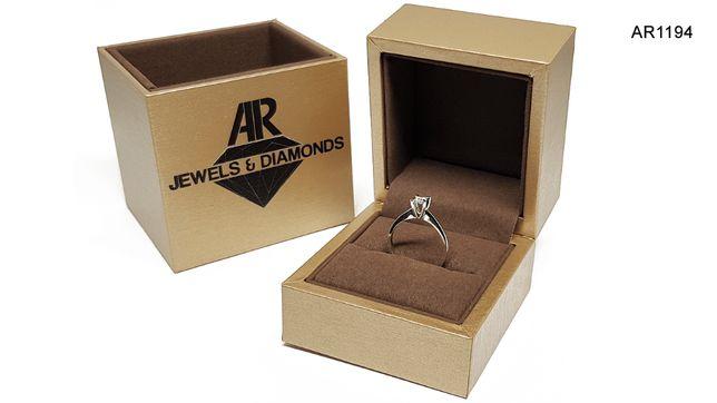 Inel Aur alb 14k cu diamant model ARJEWELS&DIAMONDS (AR1194)
