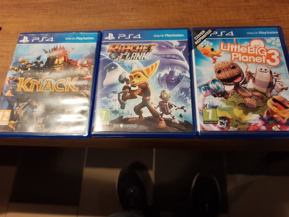 Knack , Ratchet and clank, Little big planet 3 ps4