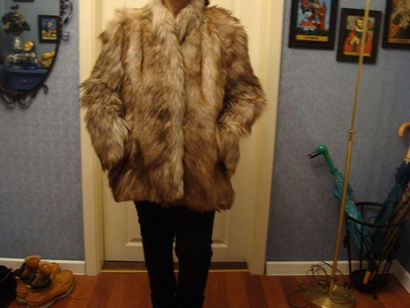 Палто естествен косъм ракун