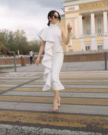 Белое платье Monica