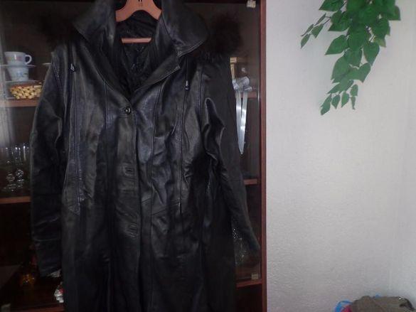 черна кожена пелерина-дамска,естествена кожа