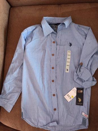 Рубашка US POLO на 10-12 лет. Оригинал.