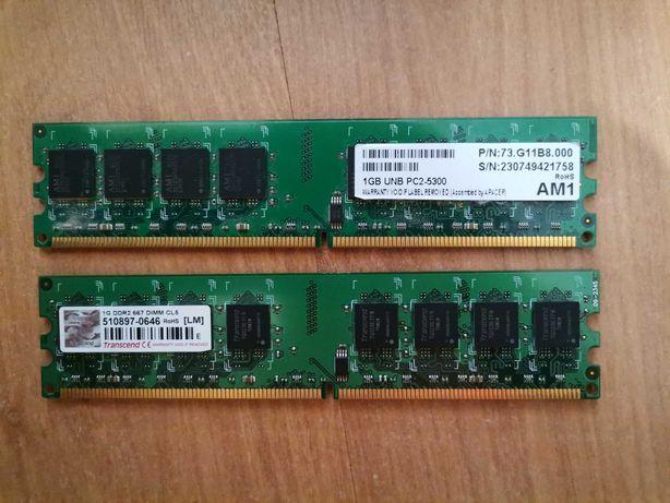 Озу для ПК 1 + 1 гб DDR2