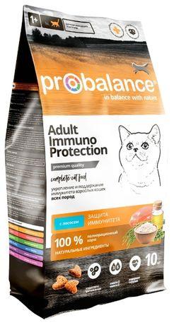 Корм ProBalance Immuno для взрослых кошек с лососем