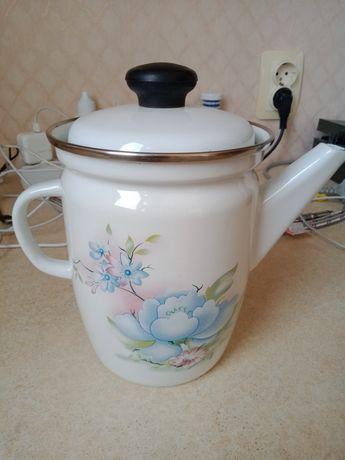 чайник эмалированный на один литр и на 2,5 литров.