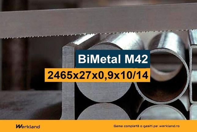 Panza panglica banzic debitat metale BiMetal M42 2465x27x0.9x10/14 DPI