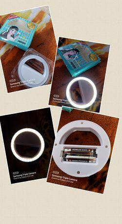 Селфи кольцевая лампа для мобильных телефонов 3рижима подсветки.