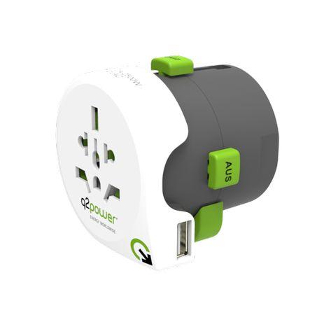 Q2 Power Travel adapter адаптер за пътуване + USB Универсален адаптер