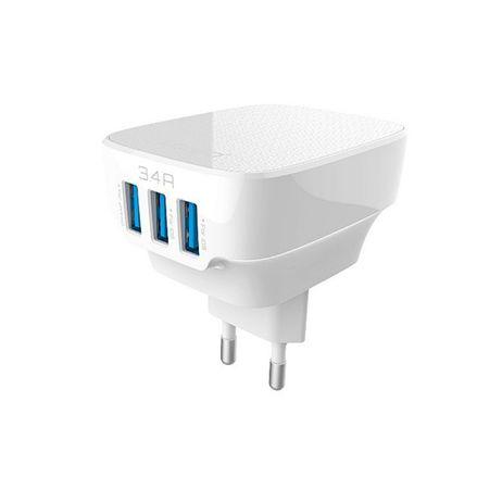 Incarcator Universal 3xUSB 3.4A + cablu lightning