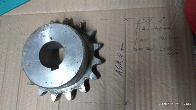 Pinion cu butuc lant gall diametrul  141 mm