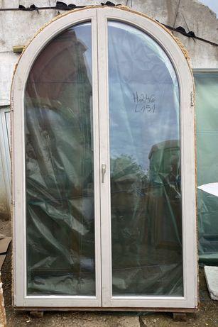 Usa terasa lemn boltita casa firma vila geam termopan H 246 x L 151