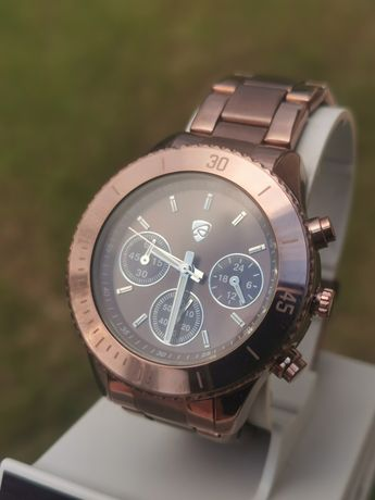 Ceas Auriol Chronograph - AM-PM - Chocolate - 39,5 mm