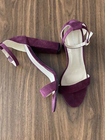 Sandale Glamorous piele intoarsa