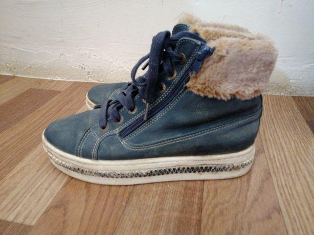 Зимний, кожаная обувь.
