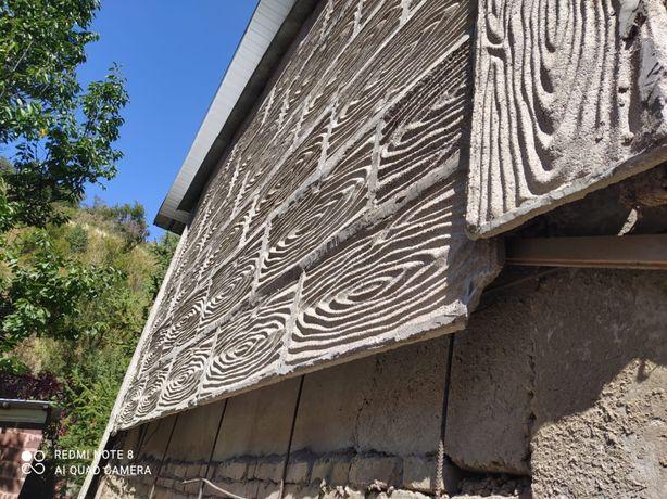 Продам плиты облицовочные бетонные (60/40) ,мебель б/у,керамзит
