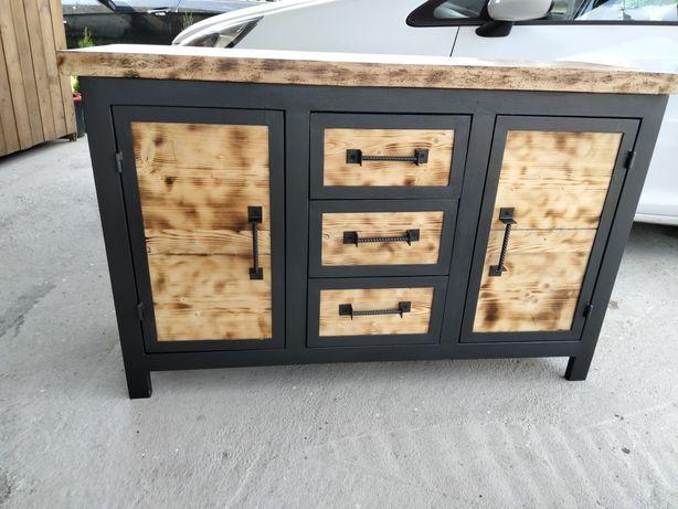 Mobilă combinată lemn și fier