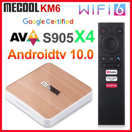 Iptv TV Box Mecool KM6 Deluxe WiFi 6 Android 10 configurat