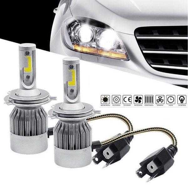 H4 LED крушки автокрушки 3800LM 72W 12V комплект BI xenon гр. Варна - image 1