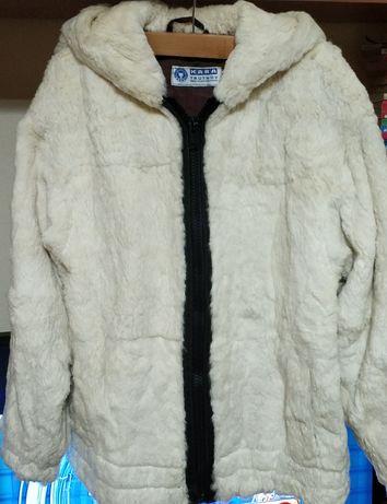 Крайна цена!!! Кожух/палто заек и естествена кожа