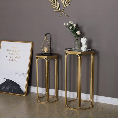Набор столиков, стекло+металл