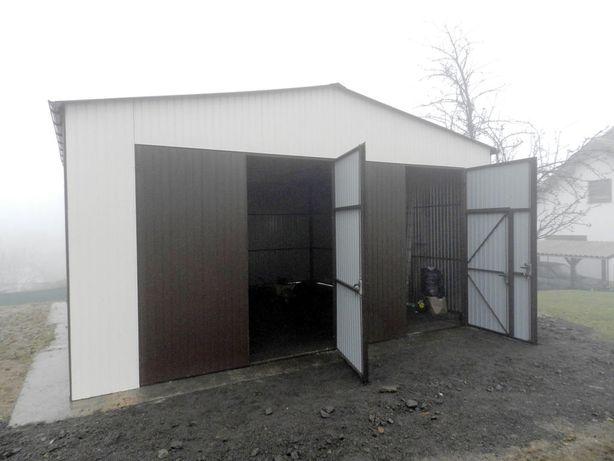 Vand container tip  garaj cu structura metalică din panou izolat  10x7