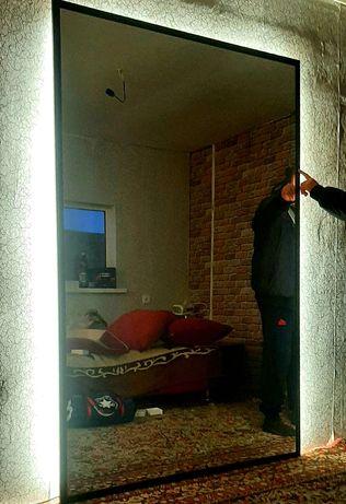 Зеркало в багете с лед.подсветкой.1.3м/2м