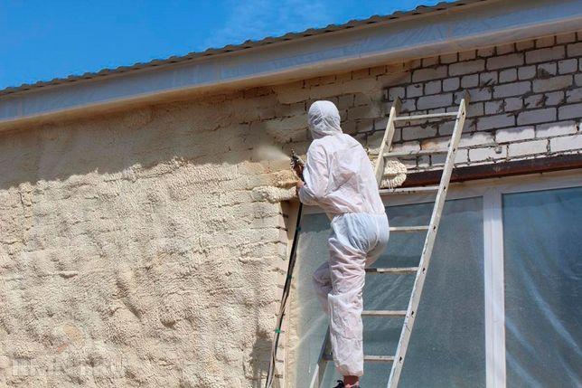 Утепление крыш мансарды домов методом напыления Пенополиуретаном