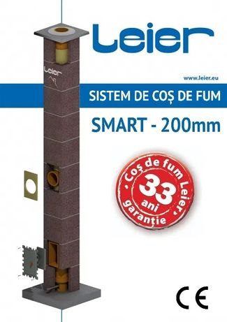 LEIER SMART 7m - Cos de fum Profesional Ceramic - Transport inclus BT