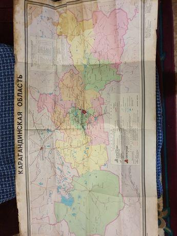 Карта Карагандинской Области