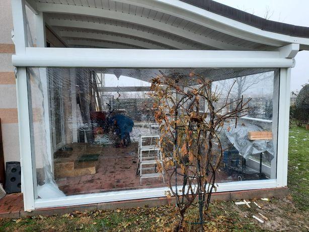 Inchidere terasa cu folie transparenta/rulou simplu /rulou casetat