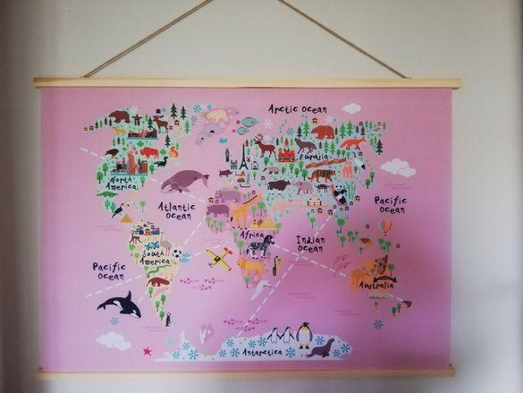 Карта на света с животни