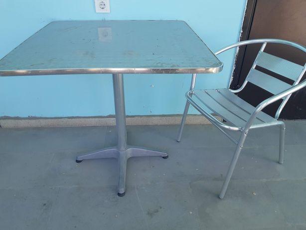 Стол + стулья металлические для сада/кафе/летника