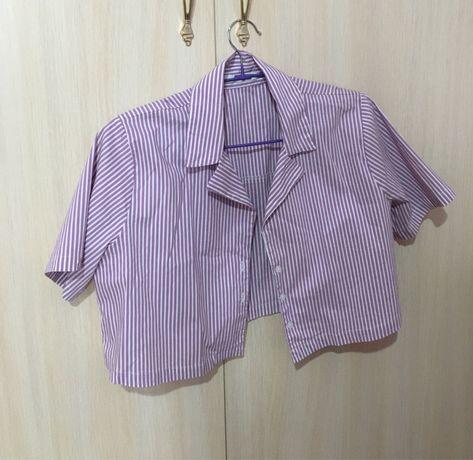 Укороченная-рубашка из Pul&Bear